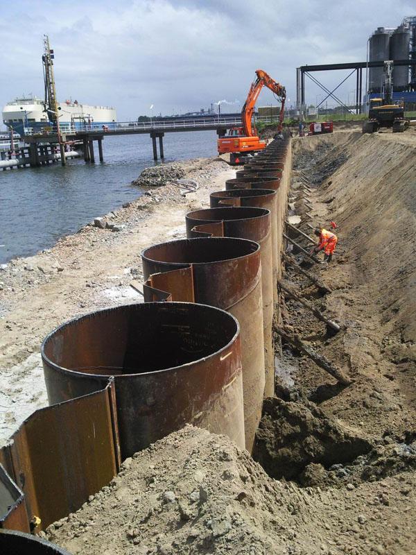 Tubular Combiwall produced for Amsterdam Port,Dutch