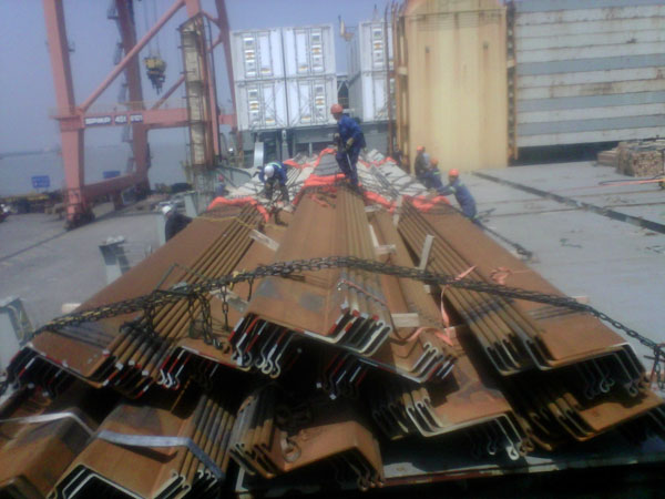 800 tons GPZ51 15mm thick,35m,shipped to Australia for military helicopters landing cofferdams