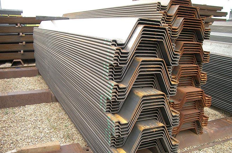 Larssen sheet piling
