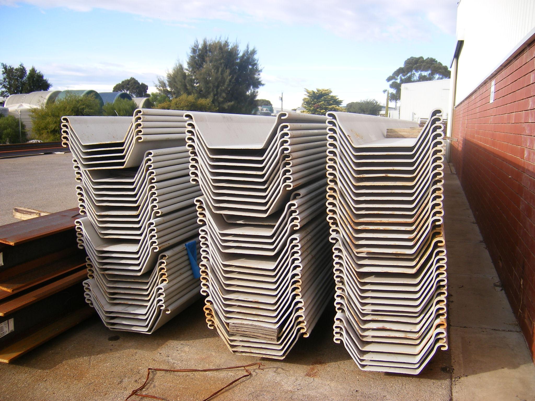 Cold formed Steel Sheet Piling