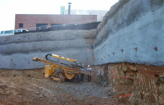 Soil nailing, design and construction service