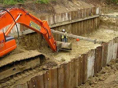 Application in the Construction Industry—Sheet Pile Walls