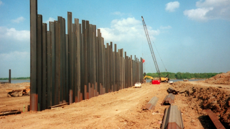 Double Wall Sheet Pile Cofferdam Coffer Dam Types Of