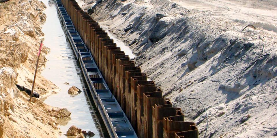 Shoreline Steel Sheet Piling