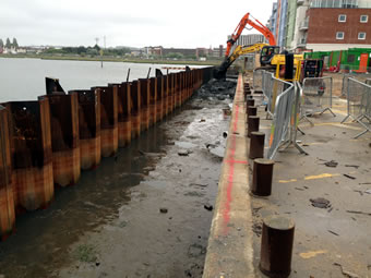 Application of Submerged Grouted Anchors in Sheet Pile Quay Walls