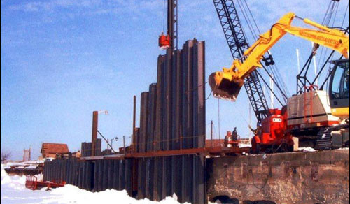 Setting & Driven Tips for Sheet Piling