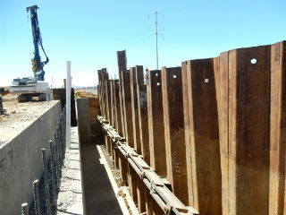 Sheet piling wall comparision