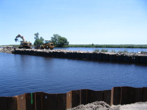 Breakwater Foundation Reinforced with Sheet Pile