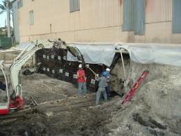 Excavation sheet piles walls