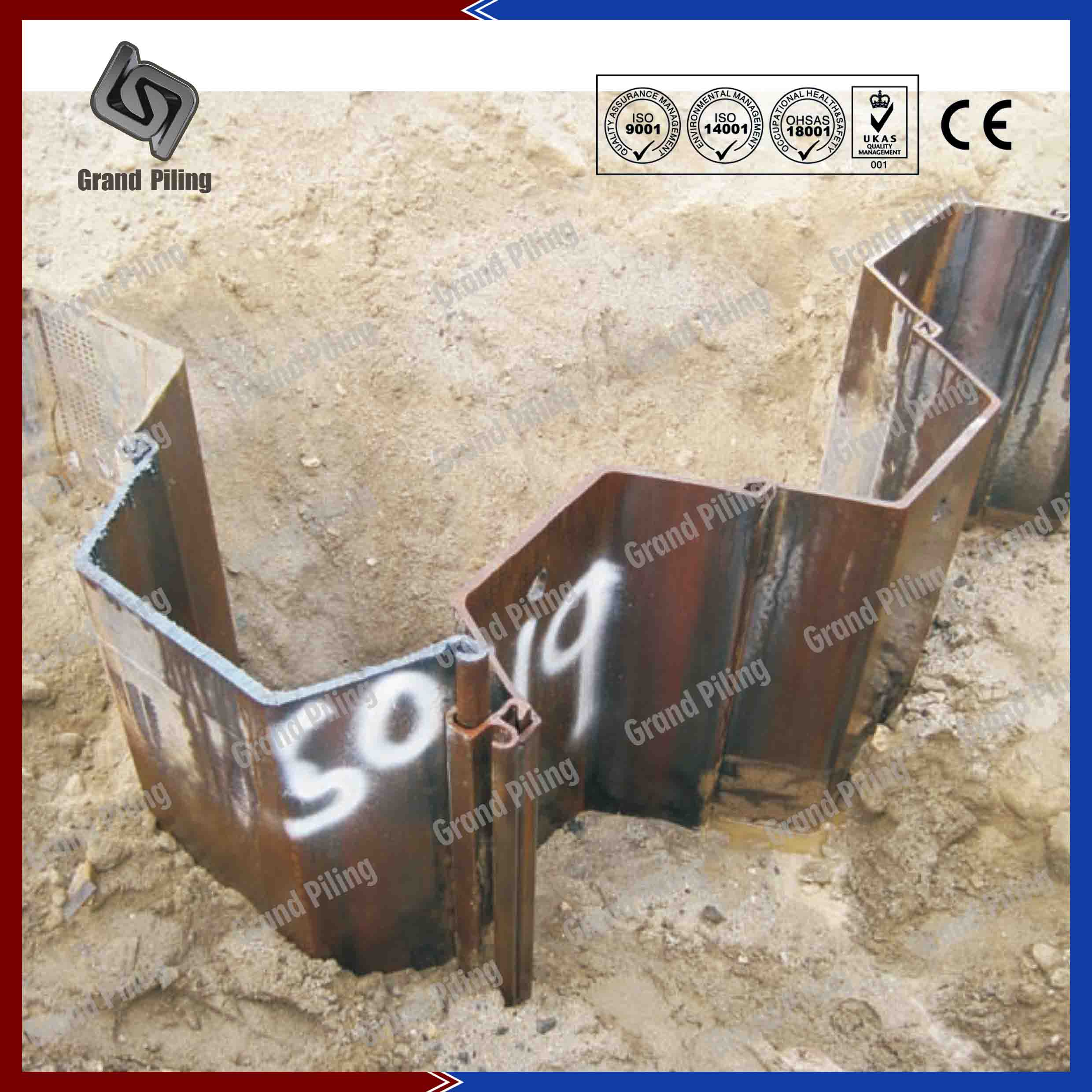 Sheet Pile Corner Sections Clutch Bars Corner Piles