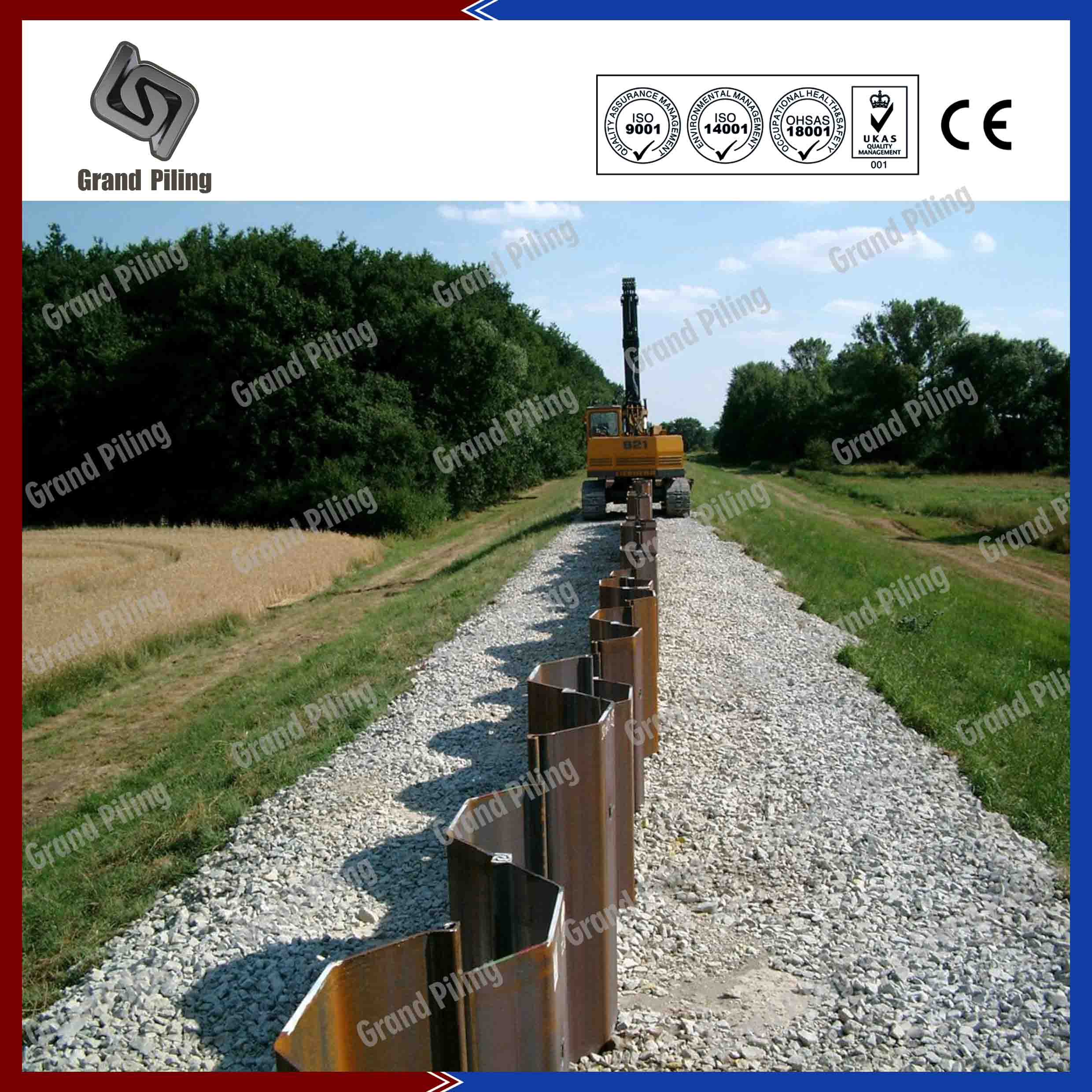 HOT ROLLED SHEET PILING Project - Nanjing Grand Steel Piling