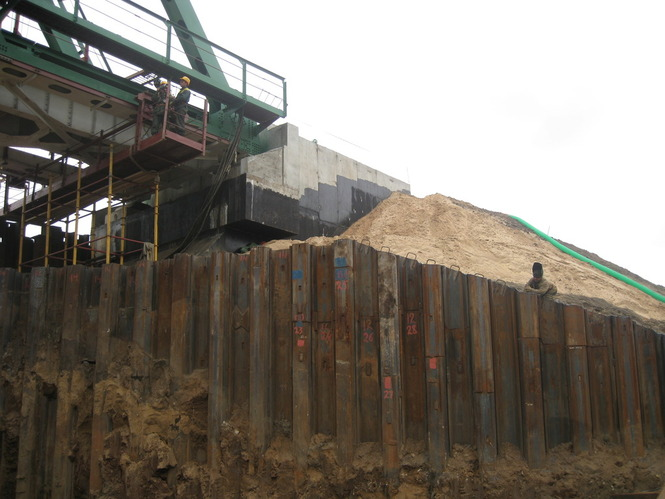 Advantages by using sheet piles