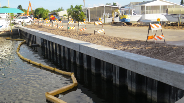 The effect of sheet pile length on the capacity of sheet pile foundation