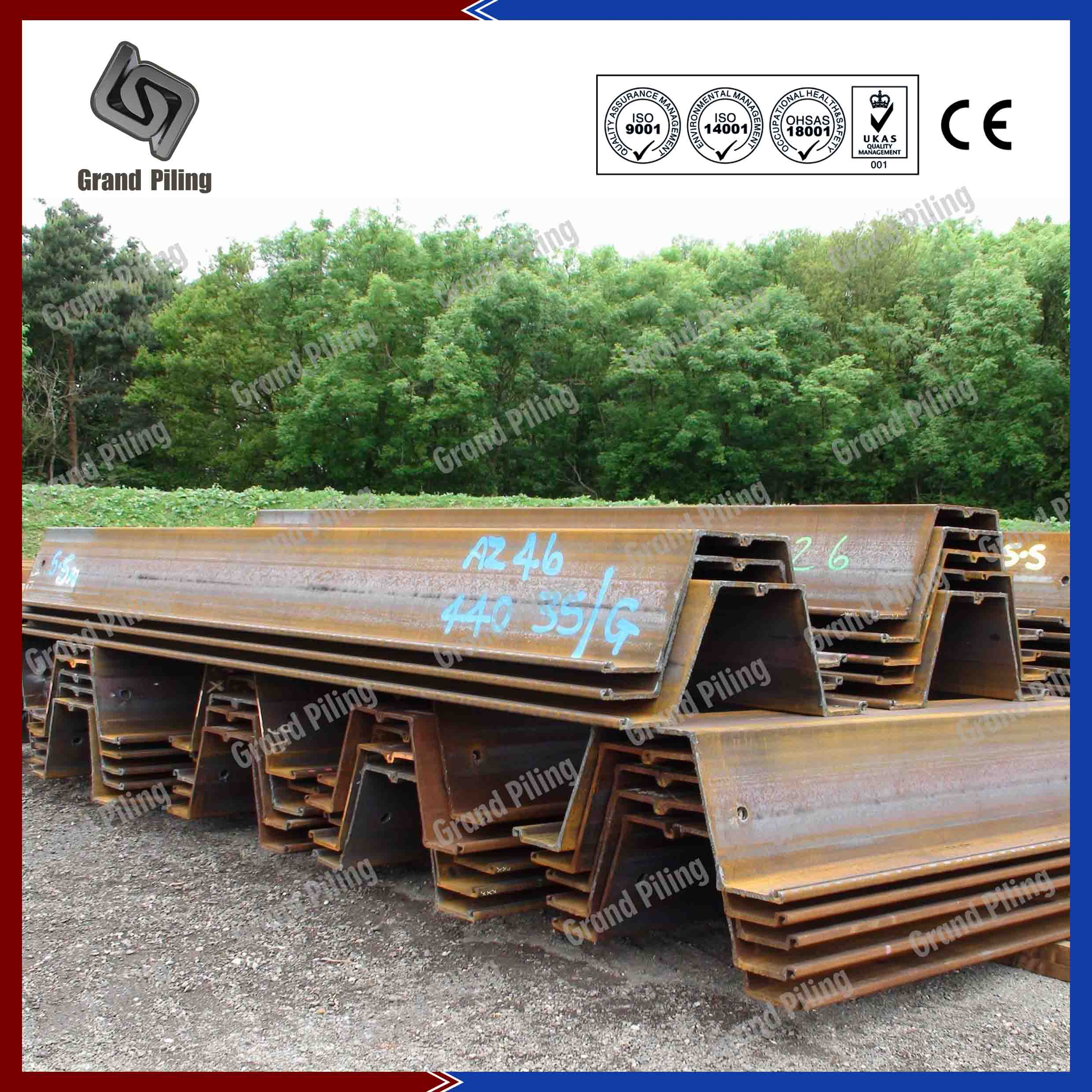Steel Sheet Piling Z Section Sheet Piles China Hot