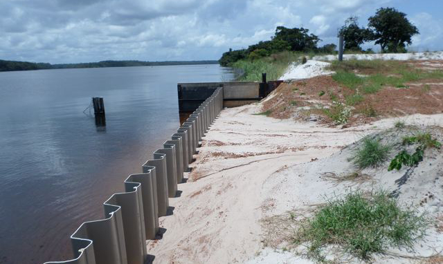 Typical sheet pile section