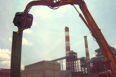 Sheet Pile Extraction