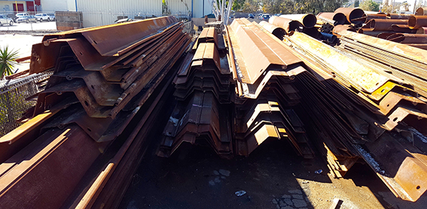 What are the requirements for the height of the sheet pile?