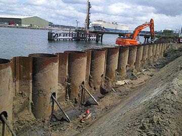 21,000 tons tubular sheet pile shipped to Manzanillo port,Mexico.