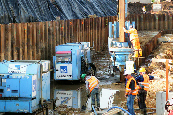 Sheet piles - temporary solutions