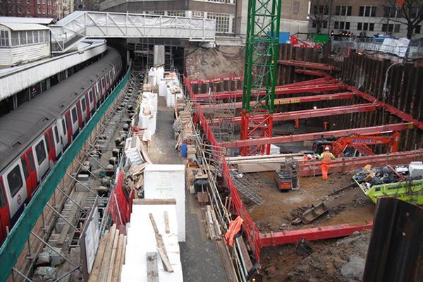 London Underground Sheet Pile Cofferdam