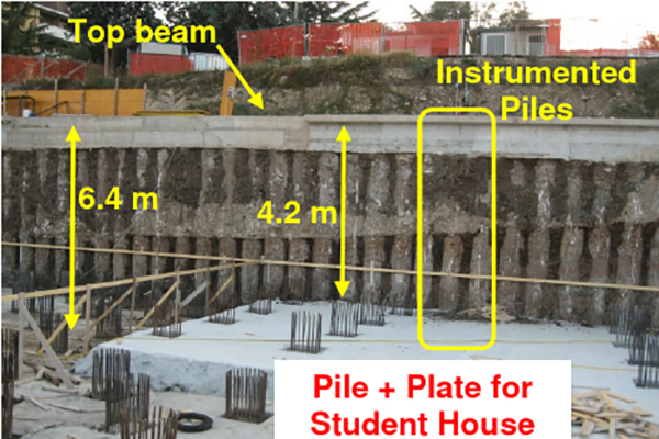 Cantilever sheet pile wall design