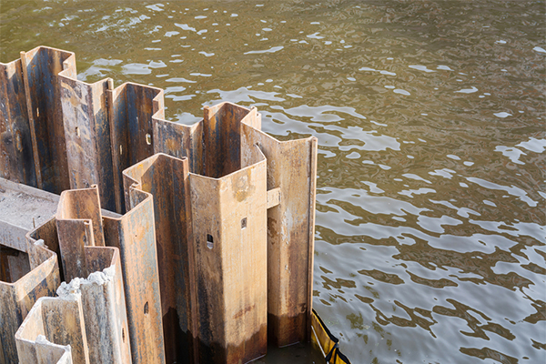How to classify sheet piling retaining wall