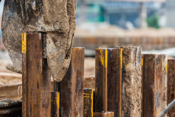 Cofferdam of sheet piling