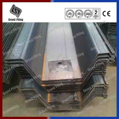 omega type sheet piles