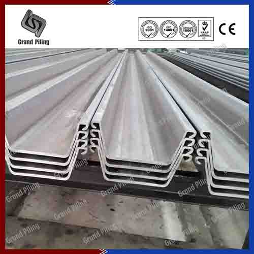 steel sheet piles, hot rolled sheet piles, U profile sheet